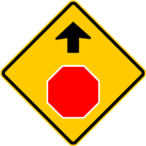 W3-1A STOP AHEAD